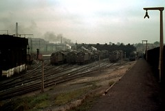 Open the gate..........down the Cinder path (Alastair Wood) Tags: train br rail railway steam stockport 1960 9b stockportmpd
