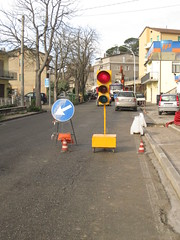 A traffic light in San Venanzo!