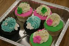 Spring Cupcakes (cakezilla) Tags: spring class cupcake decorating fondant ganche
