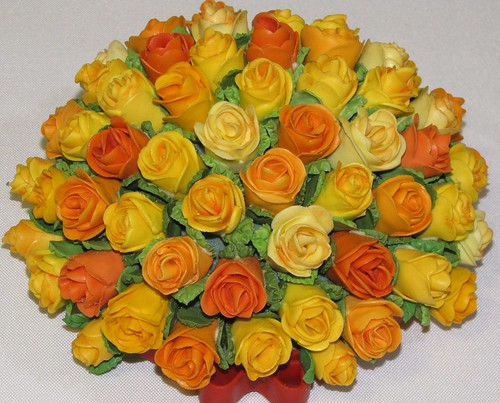 Miniature Rose Bouquet by Terry Martin