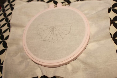 Step 3: Put fabric into embroidery hoop