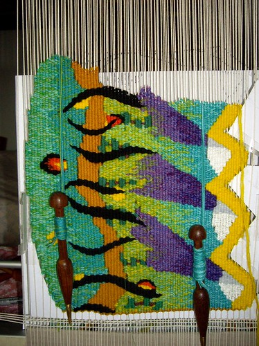 Shaped-tapestry-progress