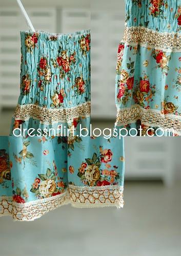 flower  dress blue collage