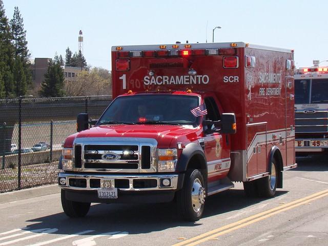 california ford fire parade ambulance sacramento medic firedepartment oldsacramento f450 medtec
