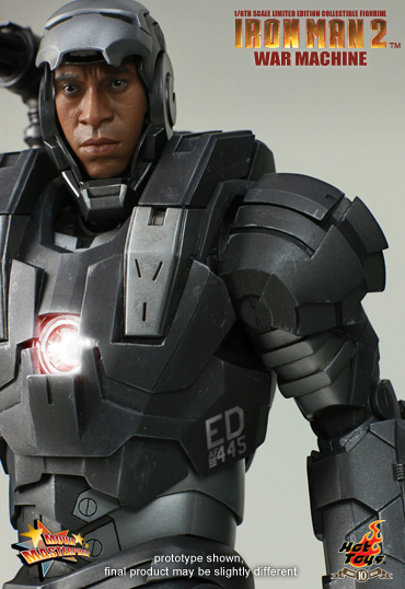War Machine Hot Toys open helmet