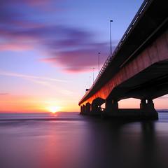 The golden bridge (Stu Meech) Tags: bridge sunset sea england bw reflection water wales river square nikon soft long exposure tide sigma severn hide lee crop 1020mm am1 nd110 06nd d300s