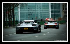 Porsche Carrera GT duo (Laurent DUCHENE) Tags: paris porsche gt rallye carrera 2010