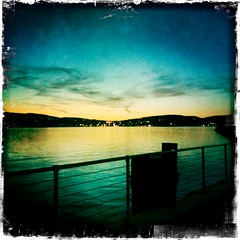 Sunset Over The Hudson (CatPeters) Tags: hudsonriver sleepyhollow tarrytown johnslens hipstamatic kodotverichromefilm