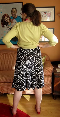 Spiral Skirt Back View