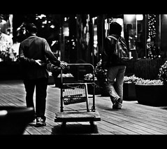(Haifeez) Tags: street night 50mm nikon candid taiwan taipei newyorknewyork bwdreams d80
