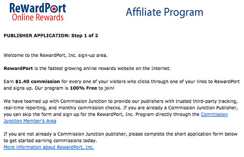 RewardPort Online Rewards Affiliate Program