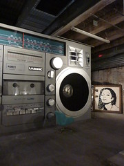 "Mr. Brainwash presents ICONS: ""Boombox"" & ""Diana Ross"" (navema) Tags: nyc ny newyork records celebrity art icons artist gallery manhattan cd vinyl culture westvillage exhibition popart celebrities meatpackingdistrict canvases mrbrainwash thierryguetta navema"