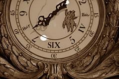 Time Flies on Angel Wings (BKHagar *Kim*) Tags: clock sepia al wings time alabama angels cherubs hartselleal bkhagar freighthouserestaurant