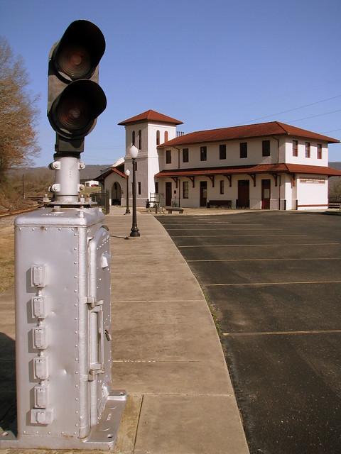 Bridgeport, AL Depot & lights