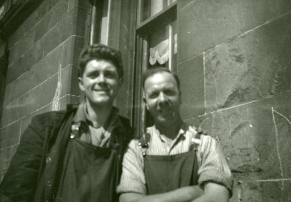 Hugh Devlin and Workmate Pettigrew Street Shettleson 1950s