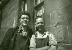 Image titled Hugh Devlin and Workmate Pettigrew Street Shettleson 1950s