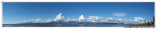 Panoramic view over Fraser River