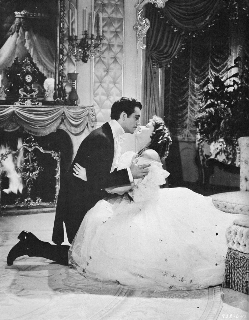 Greta Garbo and Robert Taylor