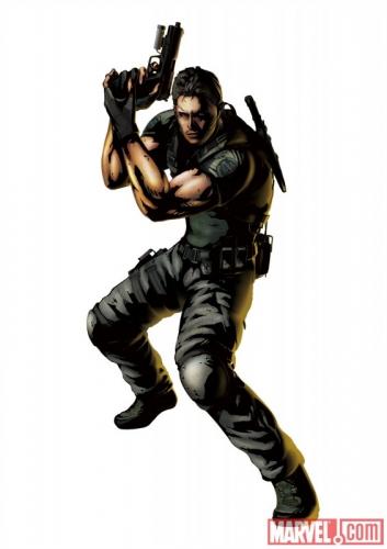 Marvel vs Capcom 3 Fate of Two Worlds Chris Redfield Promo Art