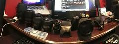 The Line-up (Jeff Martone) Tags: camera baby lensbaby 35mm bag lens nikon gear muse 1855 18 picnik lenses 70300 55200 juicebar giottos mll3 d40 photosynth sc28 sigmadchsm1020mmf456 giottosminirocketblower