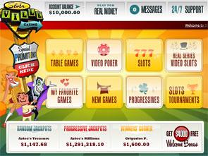 Slotsville Casino Lobby