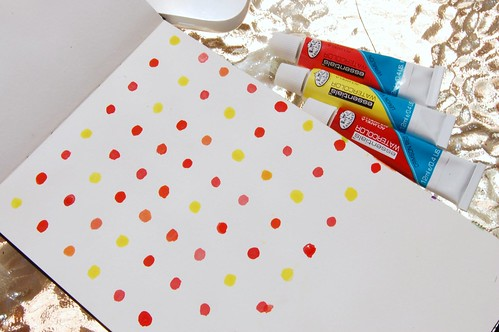 water color polka dots