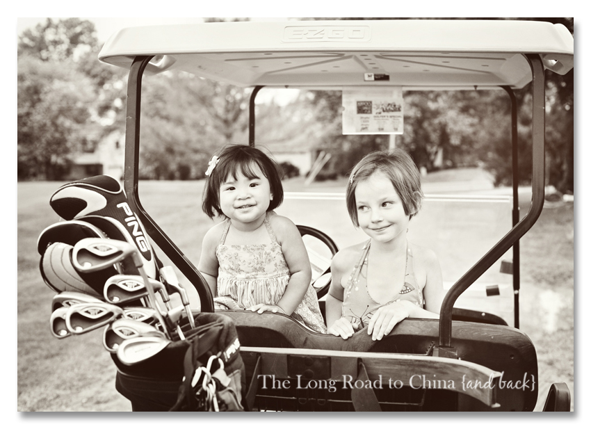 Giggling Girls in the Golf Cart BLOG