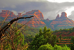 Oak Creek Canyon, Sedona (PhotosToArtByMike) Tags: arizona landscape scenic sedona redrocks cathedralrock oakcreekcanyon redrockcrossing landscapephotograph enhancedphotograph sedonamountains