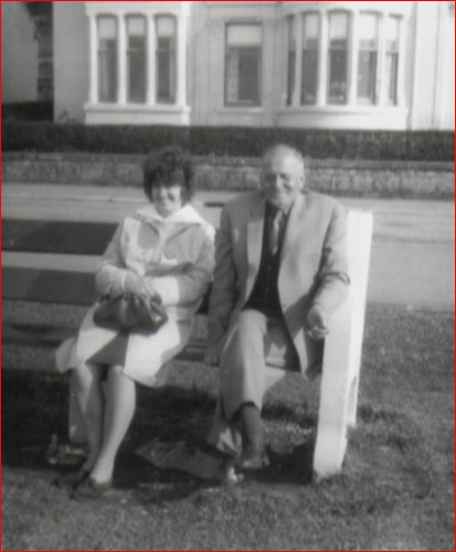 Mary Reynolds Ayr 1963 With family friend Joe Mitchell