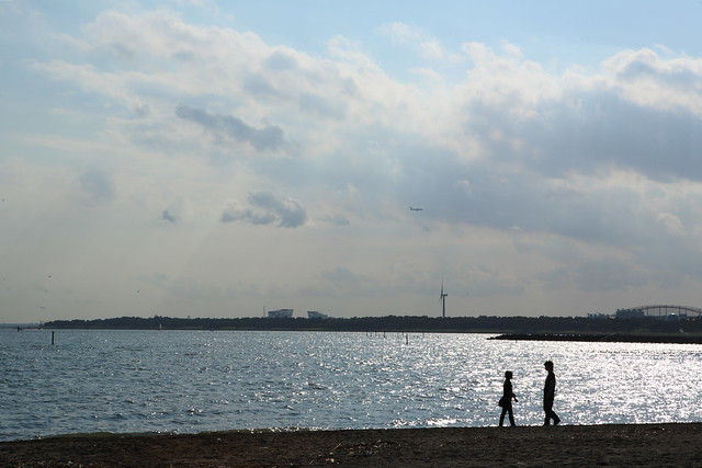 好天の浜辺