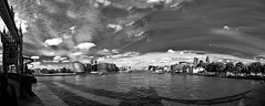 Thames (coschda) Tags: bw panorama london thames photoshop canon river eos pano 2009 lightroom 40d coschda