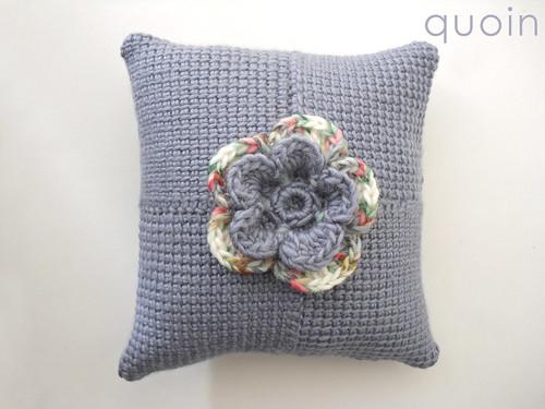 Crochet Layered Flowers Crochet Cushion Layered