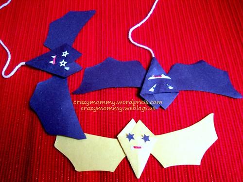 paper bats craft