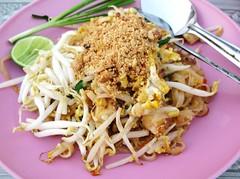 Pad Thai at a Wat Festival - Sukhothai, Thailand