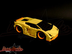 Lamborghini Gallardo DUB style (ZetoVince) Tags: car yellow greek lego vehicle lamborghini dub stubby gallardo stubbies 10wide pullbackmotor zetovince dreamdealer