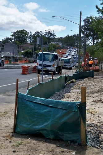 Road works on Avoca Drive Green Point