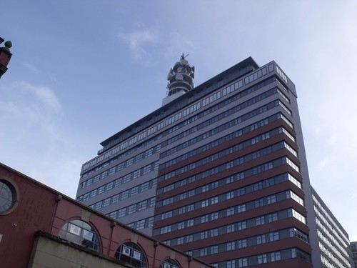 BT Tower above 133 - 137 Newhall Street, Birmingham - Brindley House