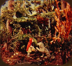 Hello (raining rita) Tags: forest woods wolf littleredridinghood 1950 viewmaster