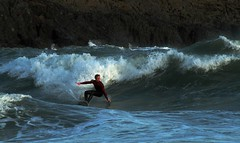 Crest of a wave. (Ann) Tags: coast surf windy surfing surfers swell broadhaven
