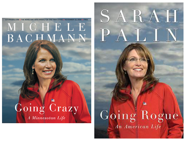 At left, City Pages' 11/18 cover; at right, Sarah Palin's book cover.