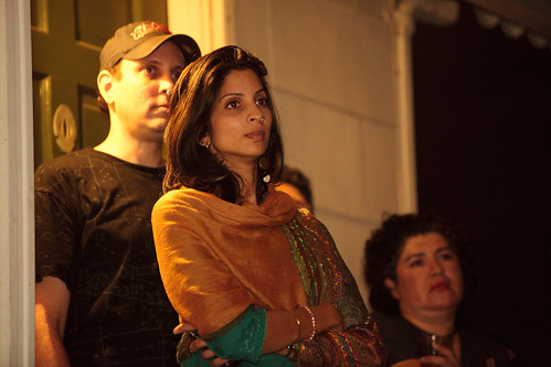 Gunjen Mittal and Oskar listening