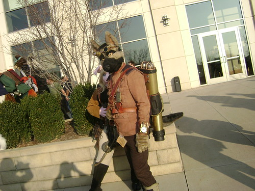 Steampunk fursuiter
