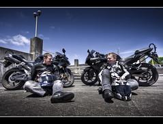 Something's missing... (Mark Solly (F-StopNinja)) Tags: sky black building men bike concrete ninja parking wideangle motorbikes kawasaki leathers superbike sportsbike sigma1020mm nikond90