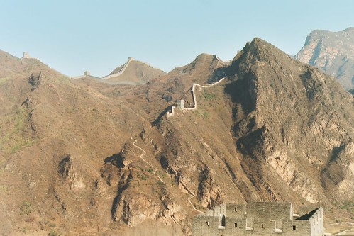 Looking across Huangya valley at the morning's Wall