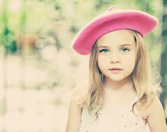 P I N K   B E R E T (Shana Rae {Florabella Collection}) Tags: pink portrait girl nikon child bokeh 85mm naturallight beret d700 shanarae florabellaactions retrolollipop