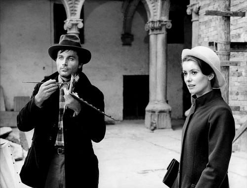 Franco Nero y Catherine Deneuve en Toledo durante el rodaje de Tristana en 1969