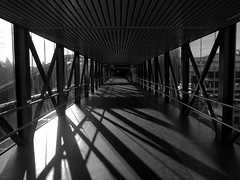 Twelve O'Clock (Peter Rosbjerg) Tags: light denmark shadows herning empty perspective trainstation danish continuity danmark emptiness banegrd twelveoclock