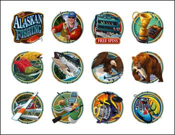 free Alaskan Fishing slot game symbols