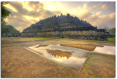 The Temple of Borobudur ~ Central Java, Indonesia (YYZDez) Tags: sea indonesia landscape temple ancienthistory ancient ruins asia southeastasia buddhist unescoworldheritagesite unesco worldheritagesite jungle 5d canon5d ancientcivilization hdr borobudur magelang candi ancientruins centraljava exposureblending photomatix coth digitalblending tonemapping borobudurtemple photomatixhdr ancientruin mahayanabuddhist canonef2410