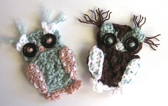 Applique Owls (Mel P Designs) Tags: owlapplique crochetowl melpdesigns sewonowl